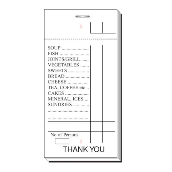 Waitress Order Pad Template 28 Images Restaurant Tab Pads