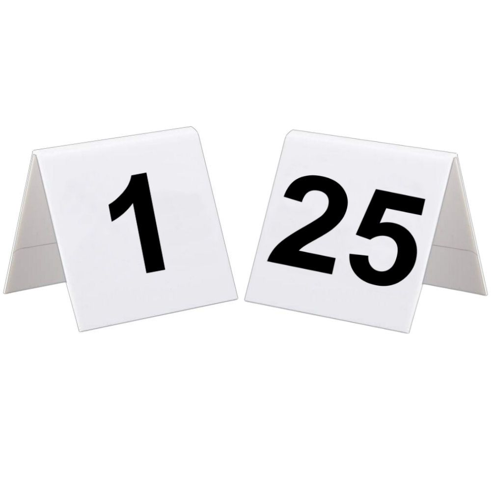 1 to 25 Plastic Table Numbers Set