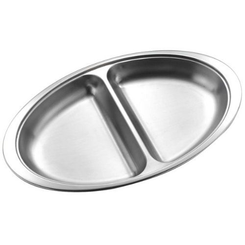 "14"" Oval Vegetable Dish Two Compartments"