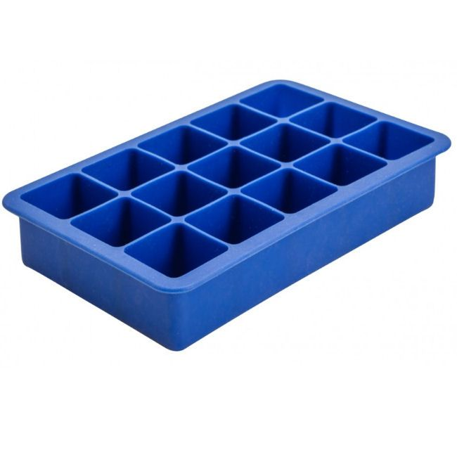 15 Section Blue Silicon Ice Mould 1.25 Ice Cube