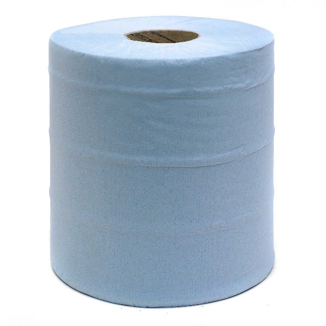 2ply Blue Centrefeed Embossed 150m