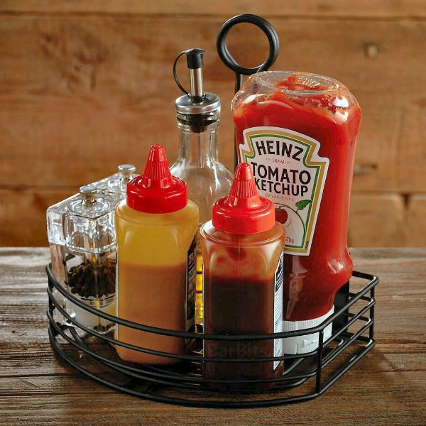 Black Wire Table Condiment Holder