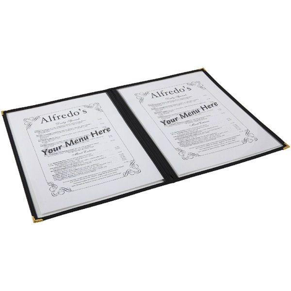 American Style Menu Holder 4 Sides Clear / Black