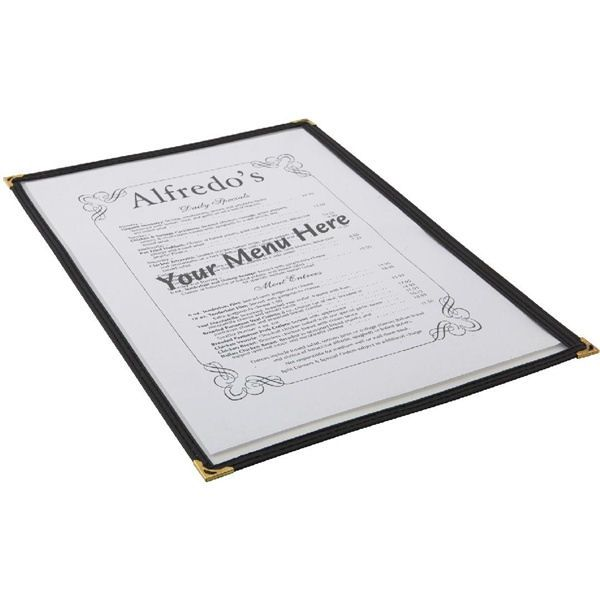 American Style Menu Holder A4 2 Sides Clear / Black