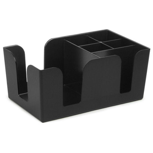 Bar Caddy Black Napkin / Straw Holder