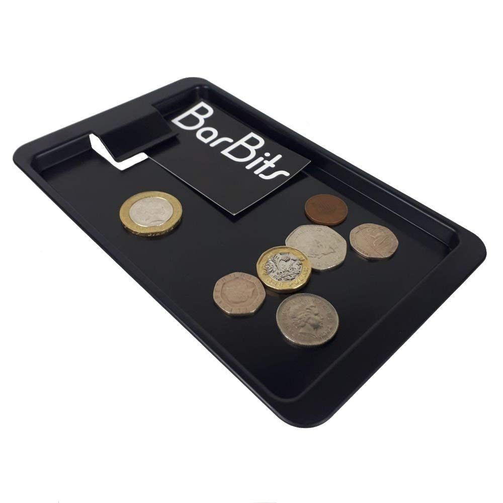 BarBits Black Plastic Tip Tray With Clip - Pack of 12