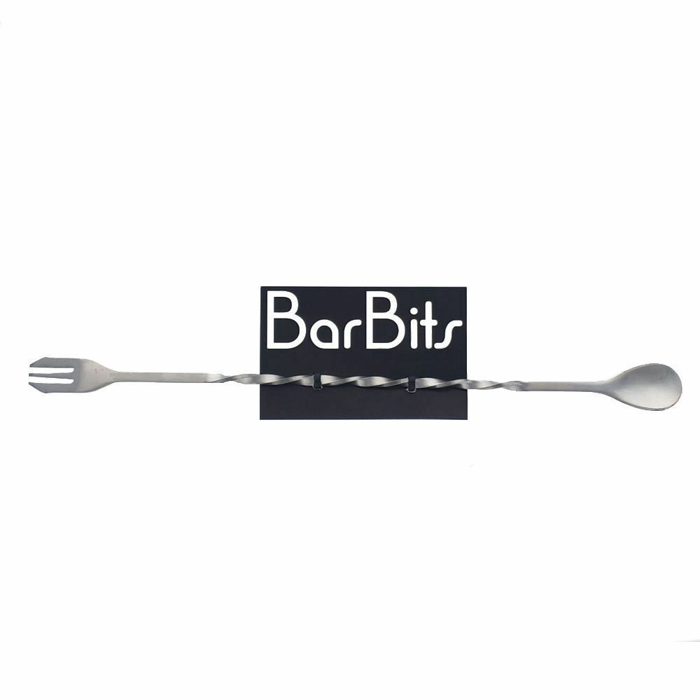 BarBits Cocktail Spoon with Fork 30cm