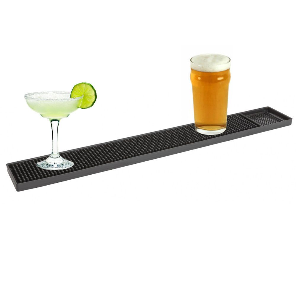 BarBits Long Black Rubber Slim Bar Mat