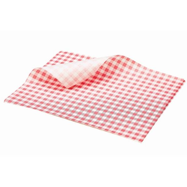 BarBits Red Gingham Greaseproof Paper 25 x 20cm