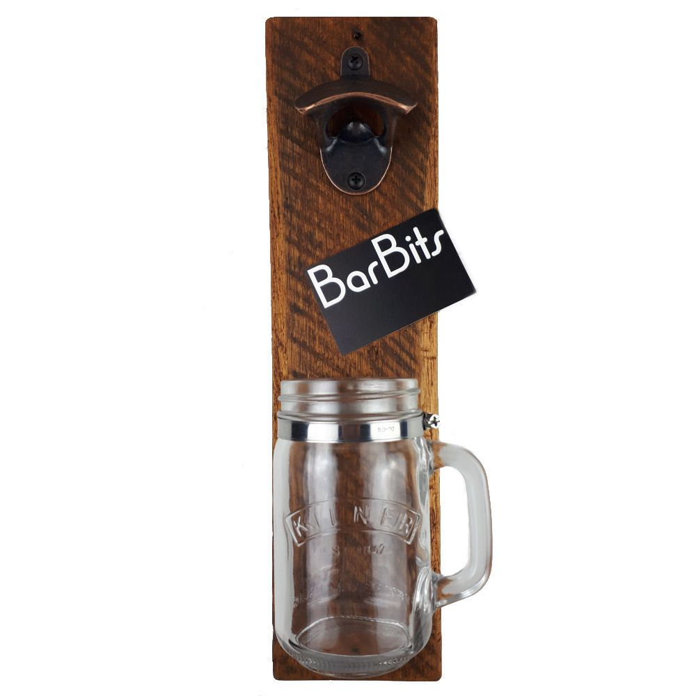BarBits Wooden Bottle Opener & Kilner Jar Catcher