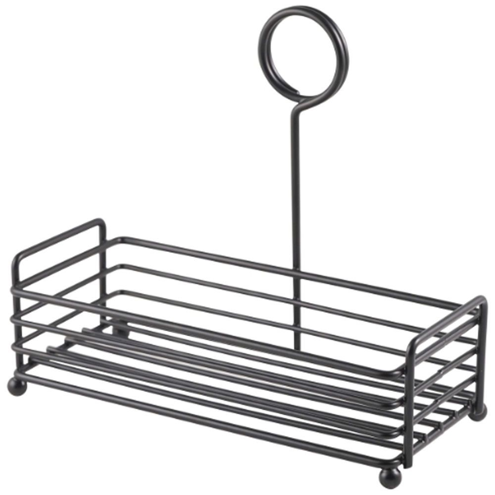 "Black Wire Table Caddy 7.75 x 3.5 x 7"" (H)"
