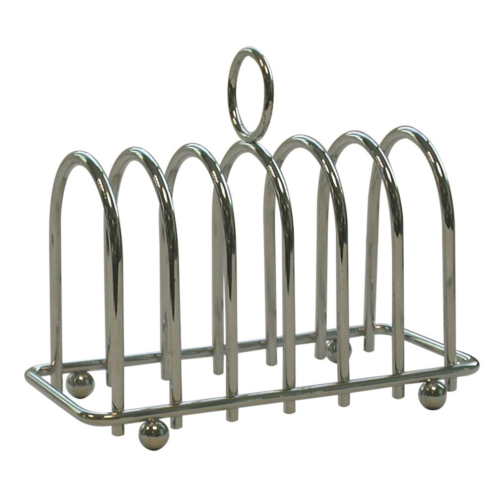 Chrome 6 Slice Toast Rack Horseshoe