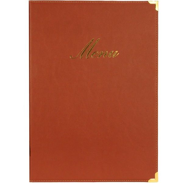 Classic Red A4 Menu Cover Holder 4 Pages