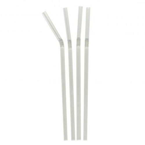 Clear Bendy Drinking Straws Cocktail 250 Box