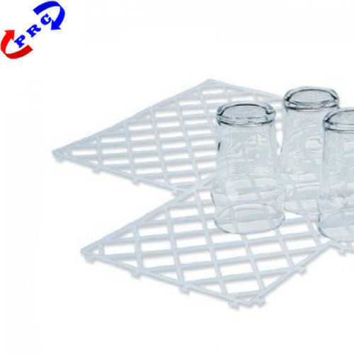 Clear Glass Mats Stacking Plastic Bar / Pub