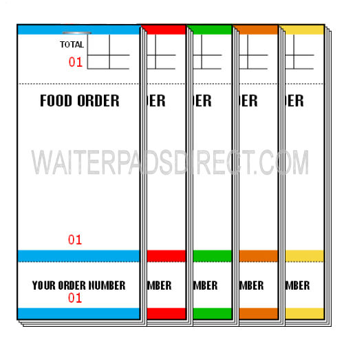 Coloured Single Sheet Waiter Bar Pads Pad84 Box of 100