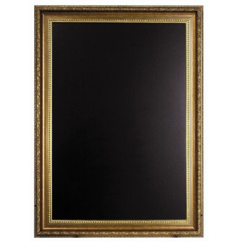 Framed Chalk Board With Gold Finish