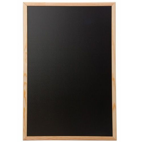 Framed Chalk Board With Natural Pine Finish