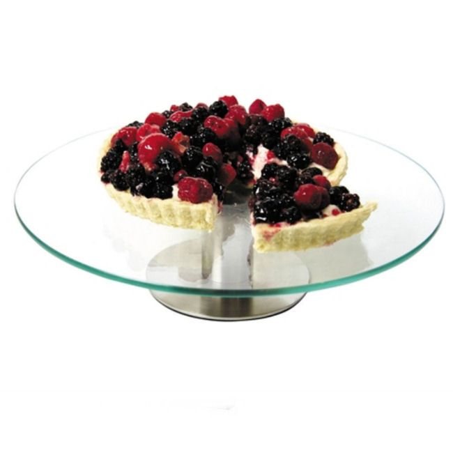 Glass Revolving Cake Stand