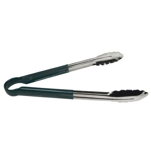 Green Colour Coded Stainless Steel Tongs 9 Inch