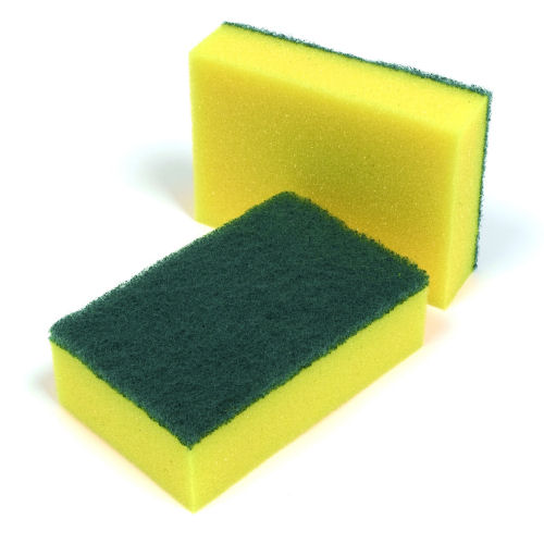 Large Green Amp Yellow Sponge Scourers