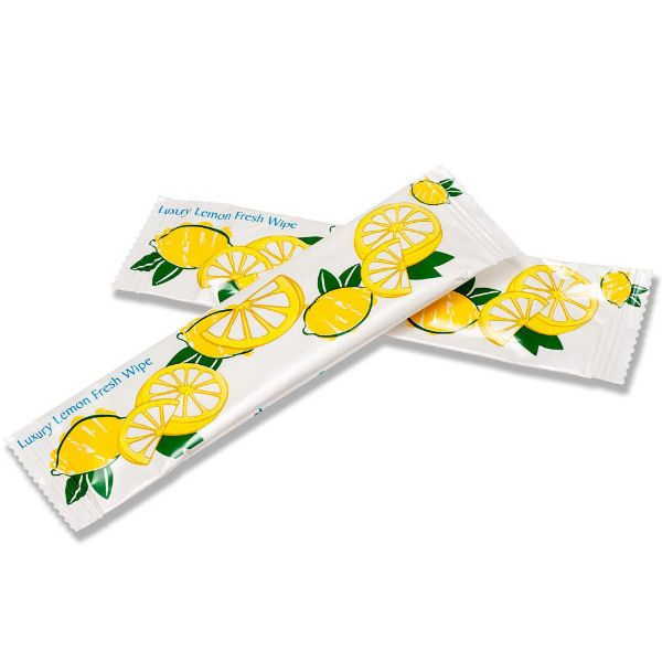 Large Lemon Freshening Hand Wipe