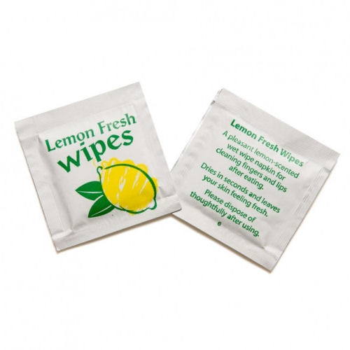 Lemon Scented Fresh Handy Wet Wipes Case