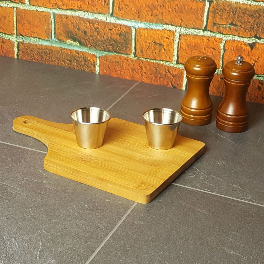 Mini Bamboo Platter With Handle