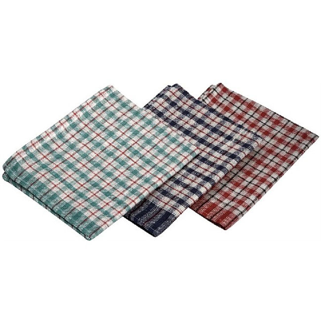 Mini Check Tea Towel 10Pcs | 43 x 68cm