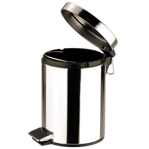 Mirror Finish Stainless Steel Pedal Bin 5 Litre