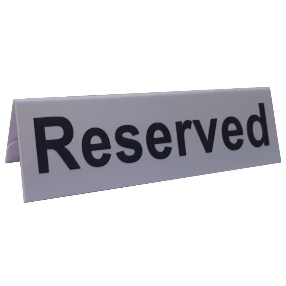 Plastic Reserved Table Sign - Pack of 12