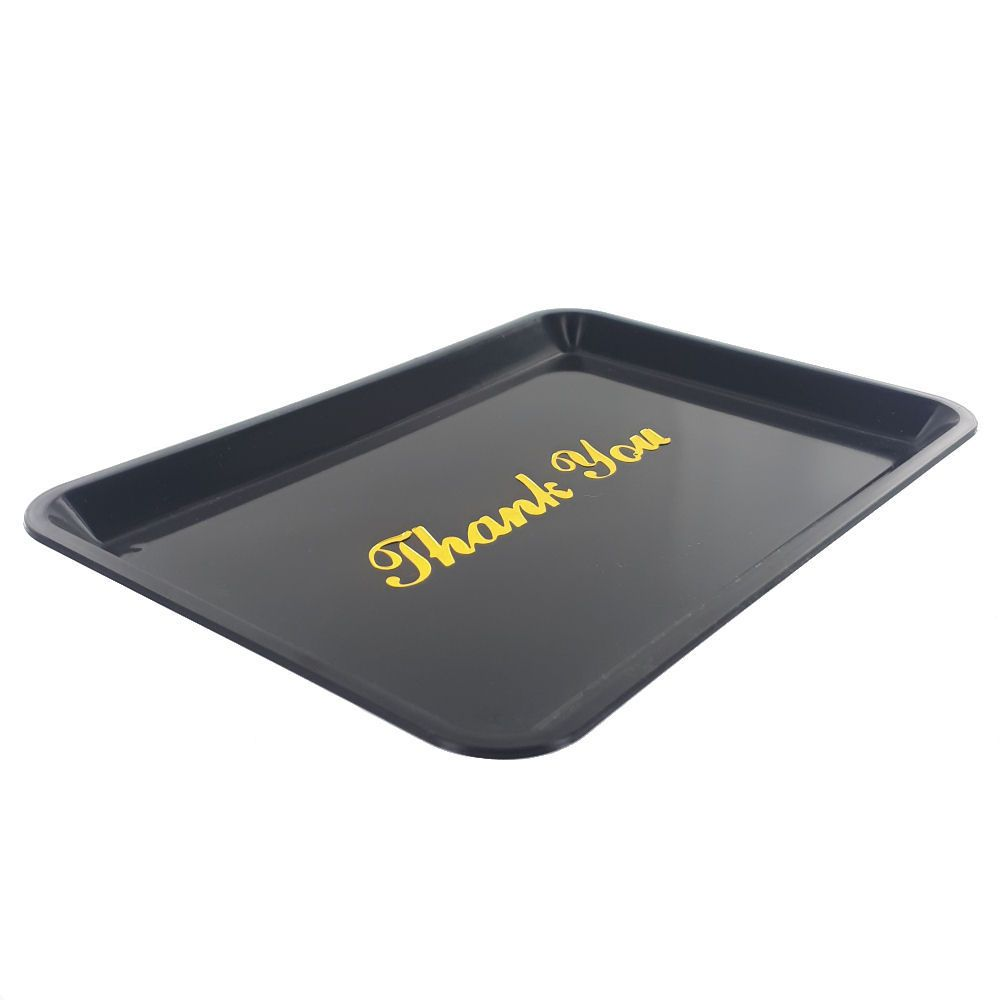 Plastic Tip Tray With Gold Thank You - Pack of 12