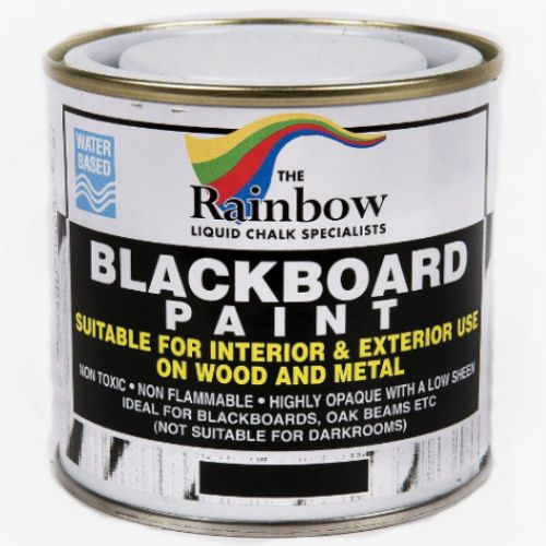 Rainbow Blackboard Black Paint - 250ml