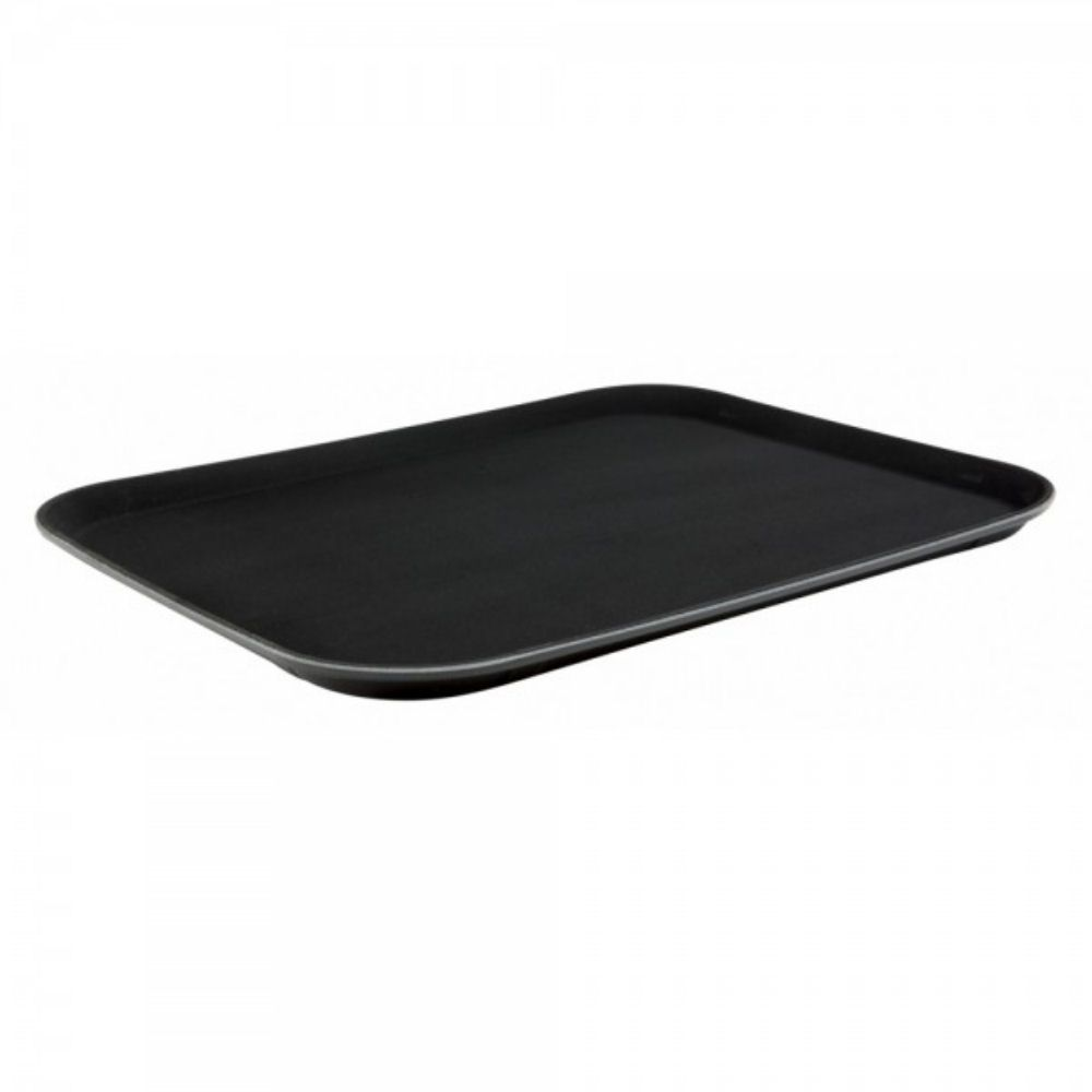 Rectangular Non Slip Tray Black