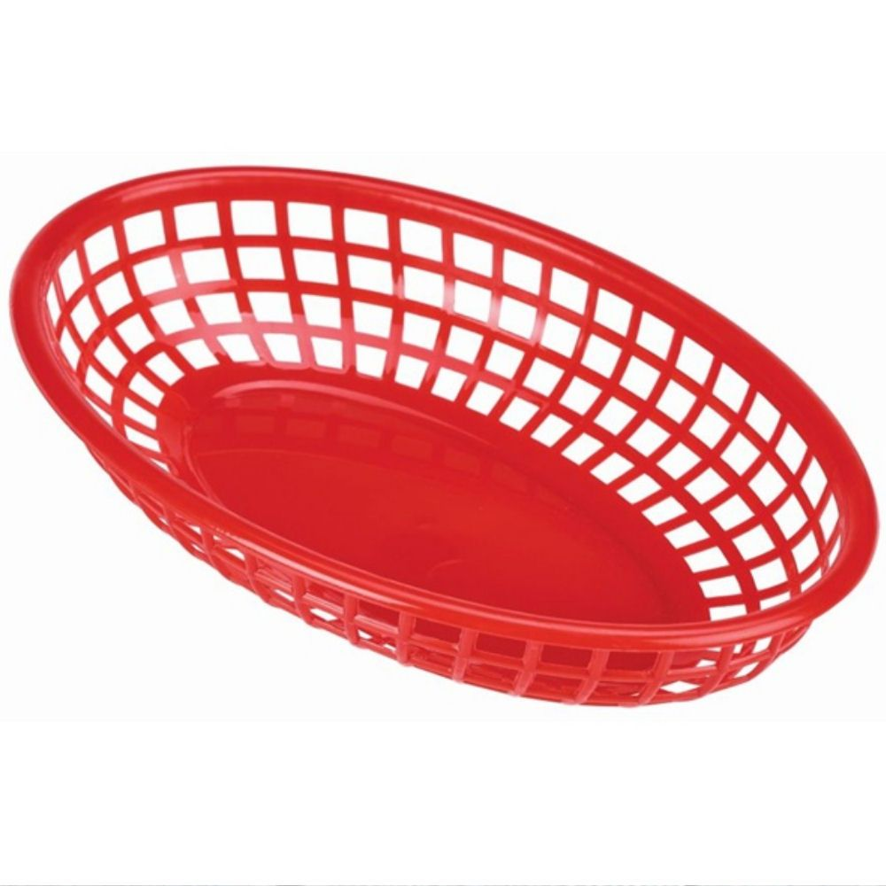 Red Classic Oval Food Basket 23.5 x 15.4 x 5cm