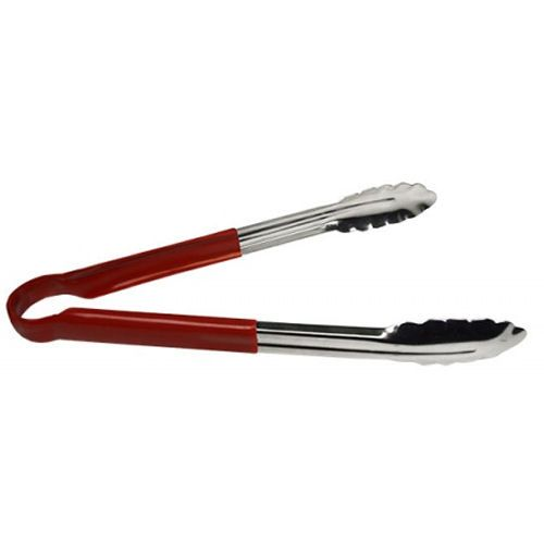 Red Colour Coded Stainless Steel Tongs 9 Inch