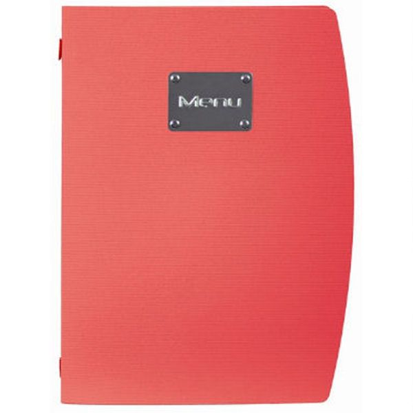 Securit Rio A4 Menu Holder Red 4 Pages
