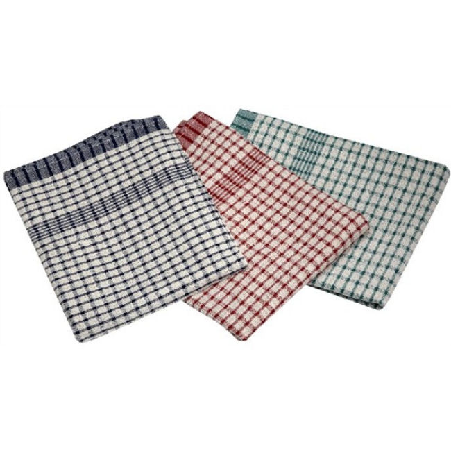 Severing Cotton Check Tea towel - 46x 69cm