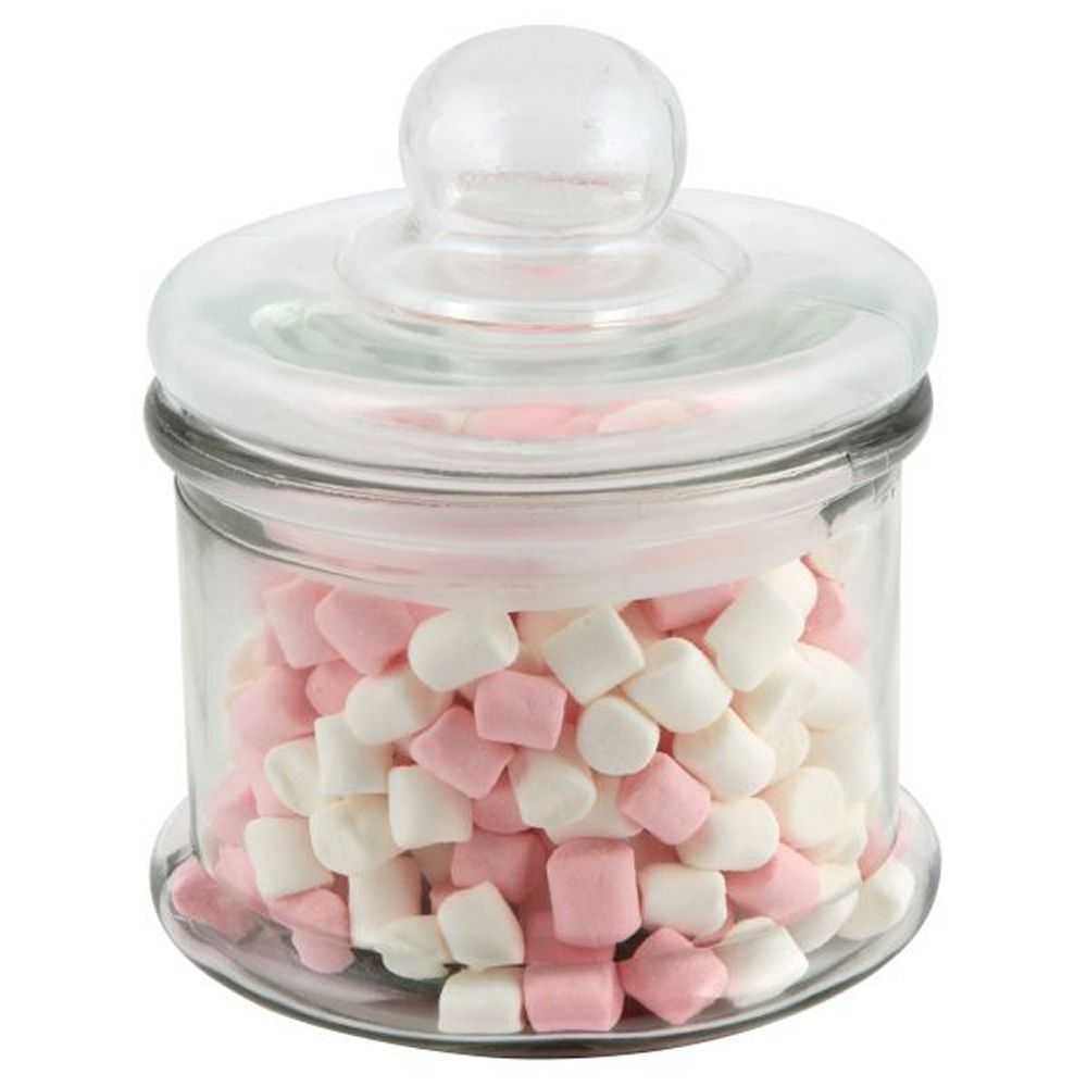 Small Glass Sweet Jar With Lid 0.6L