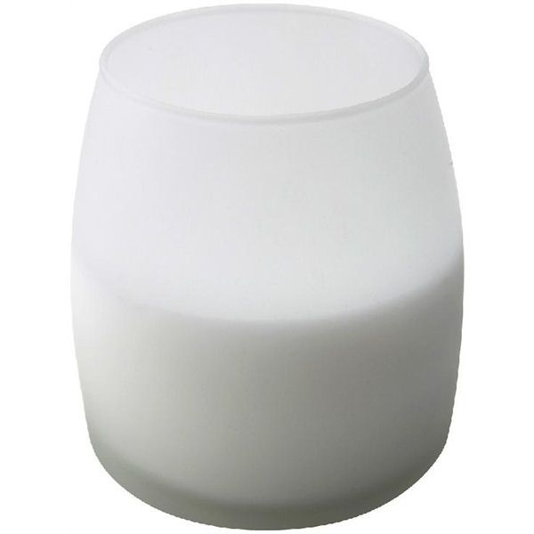 Soft Glow Glass Candle White 45h
