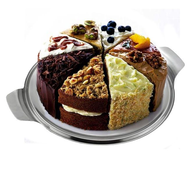 Stainless Steel Cake Plate 12inch