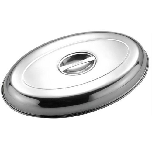Stainless Steel Cover For Oval Banqueting Dish 20""
