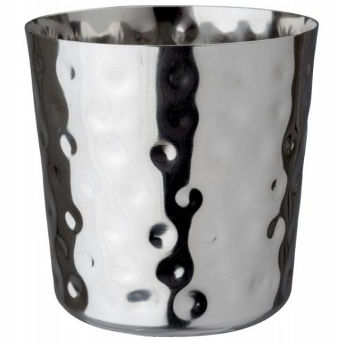 Stainless Steel Hammered Chip Cup 8.5cm