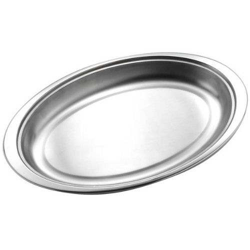 Stainless Steel Oval Vegetable Dish 14""