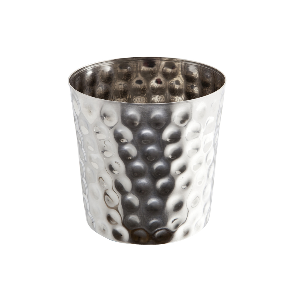 Stainless Steel Serving Cup Hammered 8.5x8.3cm