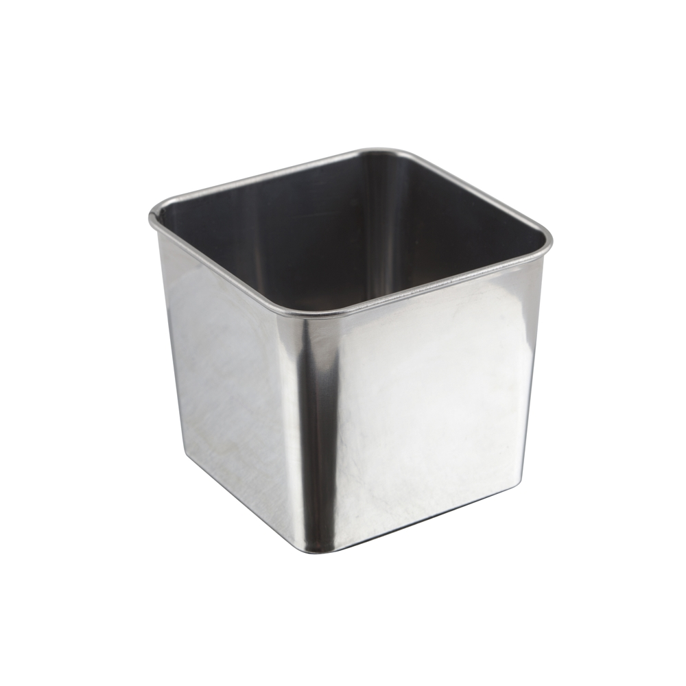 Stainless Steel Square Server 8x8x6cm