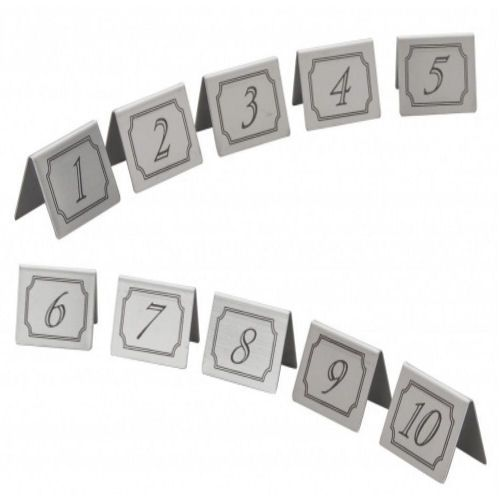 Stainless Steel Table Numbers Set 1-10