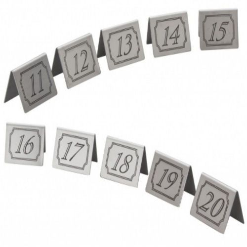 Stainless Steel Table Numbers Set 11-20