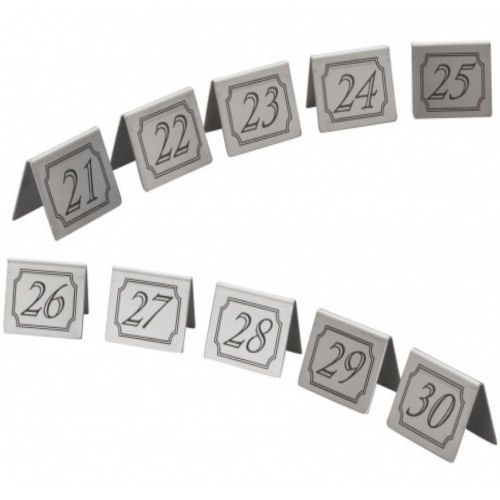 Stainless Steel Table Numbers Set 21-30