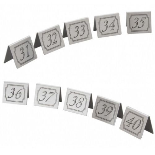 Stainless Steel Table Numbers Set 31-40